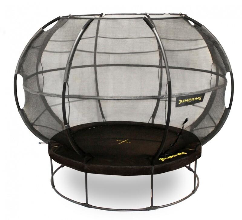 Jumpking Trampolin mit Netz und Leiter Zorb POD 427 cm, schwarz