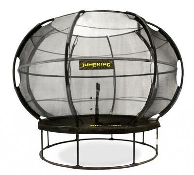 Jumpking Trampolin mit Netz und Leiter Zorb POD 366 cm, schwarz