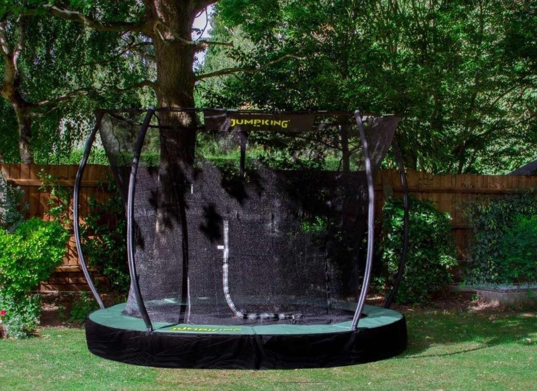 Jumpking Trampolin  In Ground Deluxe, 4.27m, schwarz/grün