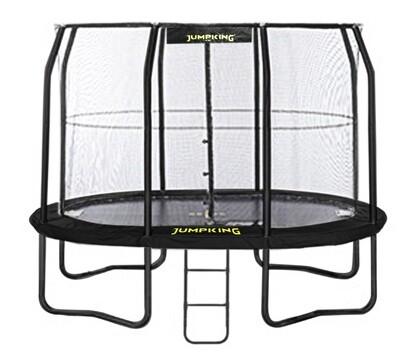 Jumpking Trampolin mit Netz und Leiter JumpPod Oval 351 x 244 cm schwarz (2016)