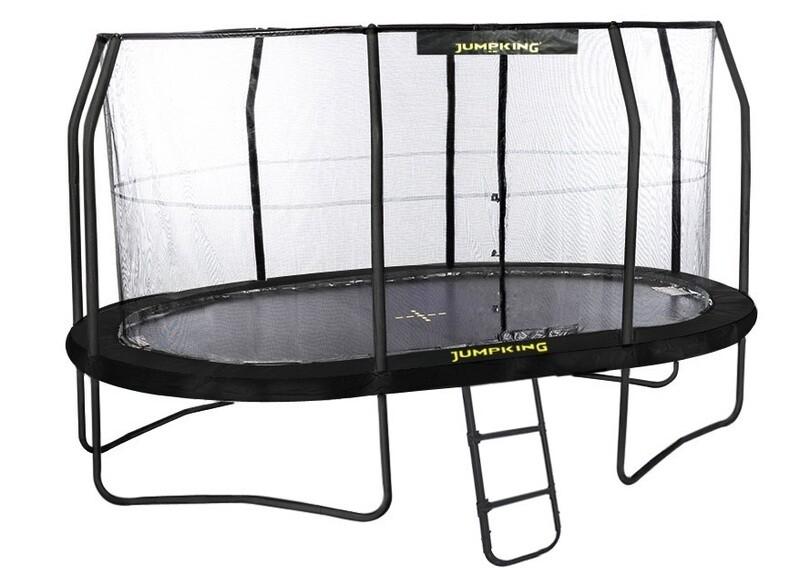Jumpking Trampolin mit Netz JumpPod Oval 396x274cm schwarz (2016)