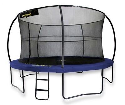 Jumpking Trampolin mit Netz und Leiter JumpPod Deluxe 366 cm blau (2016)