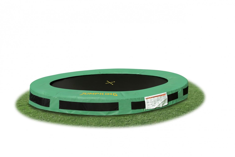 Jumpking Trampolin InGround Classic, 4,27 Meter schwarz/grün