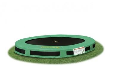 Jumpking Trampolin InGround Classic, 2,44 Meter schwarz/grün