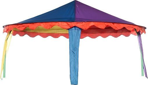 Jumpking Trampolinzelt Vordach Zirkus oval 4,27 x 5,18 Meter