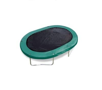 Jumpking Trampolinabdeckung schwarz oval 2,44 x 3,51 Meter