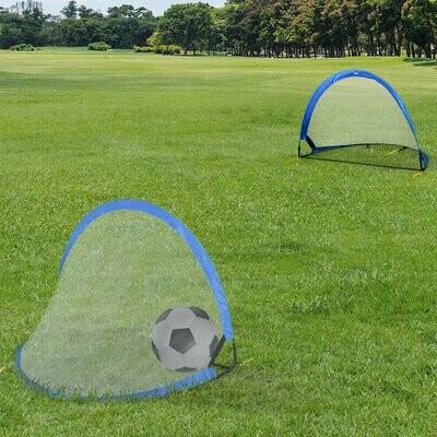 HOMCOM® Pop Up Tor Fußballtor Tragbares Fußballnetz Minitor mit Tragetasche faltbar Blau