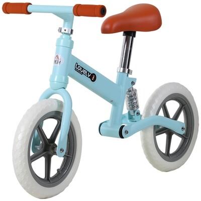 HOMCOM® Laufrad mit Stoßdämpfer Kinderrad Lauflernrad Balance Bike 2-5 Jahre PP Blau