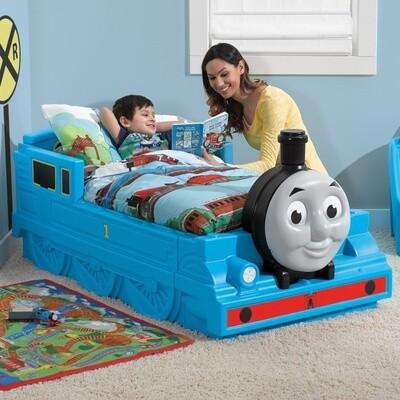 Step2 Thomas die Lokomotive, Kinderbett,  170 cm blau (Thomas und seine Freunde)