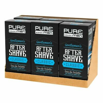 Grosspackung Pure & Basic Aftershave Classic 100 ml, 6er Pack