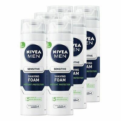 Grosspackung Nivea men Rasierschaum sensitiv 200 ml, 6er Pack = 1,2 Liter