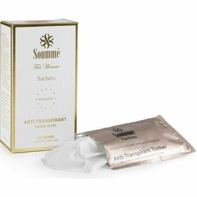 Grosspackung Soummé Deo Tücher Sachet Anti-Transpirant Women 14er-Set weiss Big-Box