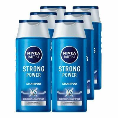 Grosspackung NIVEA MEN Pflegeshampoo Strong Power 250 ml, 6er Pack ? 1,5 Liter