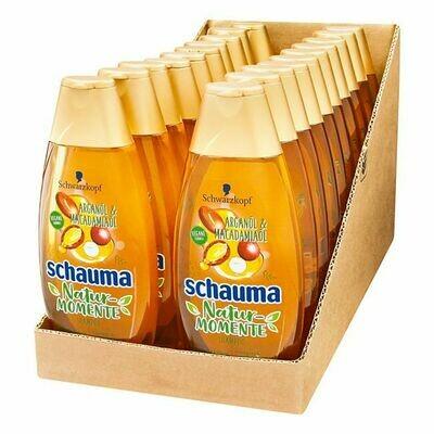 Grosspackung Schwarzkopf Schauma Nature Shampoo Arganöl und Macadamia 400 ml, 20er Pack = 8 Liter
