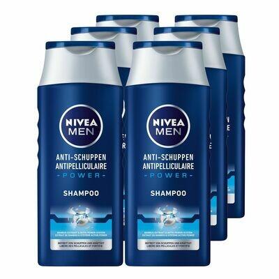 Grosspackung NIVEA Men Anti-Schuppen Power Shampoo 250 ml, 6er Pack