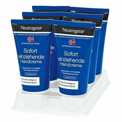 Grosspackung Neutrogena Sofort Einziehende Handcreme 75 ml, 6er Pack = 450 ml