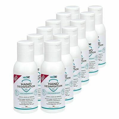 Grosspackung Helpic Hand Desinfektionsgel 100 ml, 12er Pack = 1200 ml