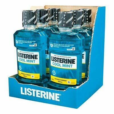 Grosspackung Listerine Mundspülung Coolmint 600 ml, 6er Pack = 3,6 Liter