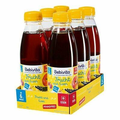 Grosspackung Bebivita Frucht & Eisen Saft 0,5 Liter PET, 6er Pack = 3 Liter
