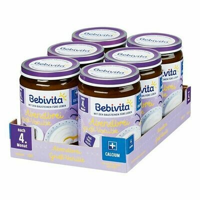 Grosspackung Bebivita Abendbrei Griess-Vanille ab dem 4. Monat 190 g, 6er Pack