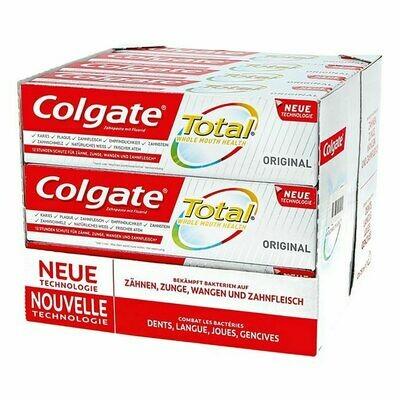 Grosspackung Colgate Zahncreme Total Original 75 ml, 12er Pack = 900 ml
