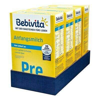 Grosspackung Bebivita Pre Anfangsmilch 500 g, 4er Pack = 2 kg