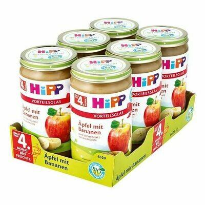 Grosspackung HiPP Bio Frucht Apfel mit Bananen 250 g, 6er Pack = 1,5 kg
