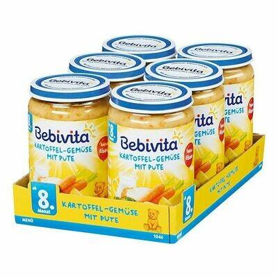 Grosspackung Bebivita Menü Kartoffel-Gemüse mit Pute 220 g, 6er Pack = 1,32 kg