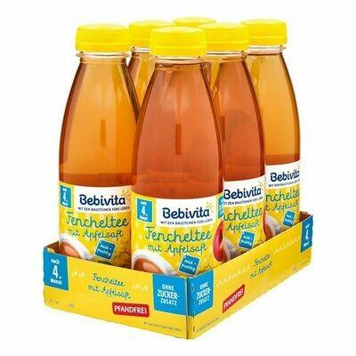 Grosspackung Bebivita Fencheltee mit Apfelsaft 0,5 Liter PET, 6er Pack = 3 Liter