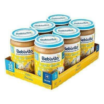 Grosspackung Bebivita Apfel-Banane Quark 190 g, 6er Pack = 1,14 kg