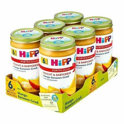 Grosspackung HiPP Bio Mango Bananen Griess 250 g, 6er Pack = 1,5 kg