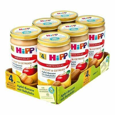 Grosspackung HiPP Bio Apfel-Banane mit Babykeks 250 g, 6er Pack