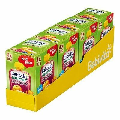 Grosspackung Bebivita Kinderspass Gartenfrüchte 4 x 90 g, 4er Pack = 1,44 kg