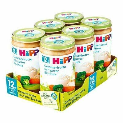 Grosspackung HiPP Bio Menü Gemüserisotto mit zarter Pute 250 g, 6er Pack = 1,5 kg