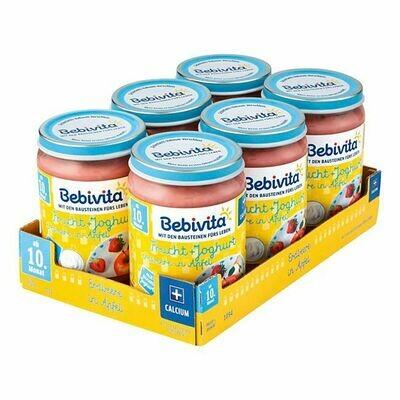 Grosspackung Bebivita Frucht & Joghurt Erdbeere in Apfel 190 g, 6er Pack = 1,14 kg