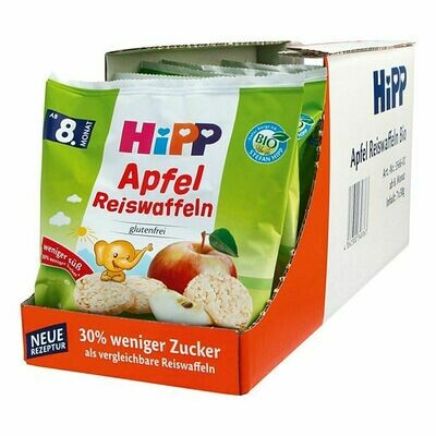 Grosspackung HiPP Bio Kinder Reiswaffeln Apfel 30 g, 7er Pack = 210 g