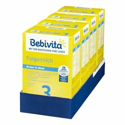 Grosspackung Bebivita 3 Folgemilch 500g, 4er Pack = 2 kg