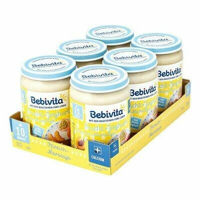 Grosspackung Bebivita Frucht & Joghurt Pfirsich-Maracuja 190 g, 6er Pack = 1,14 kg