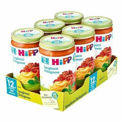 Grosspackung HiPP Bio Menü Spaghetti Bolognese 250 g, 6er Pack = 1,5 kg