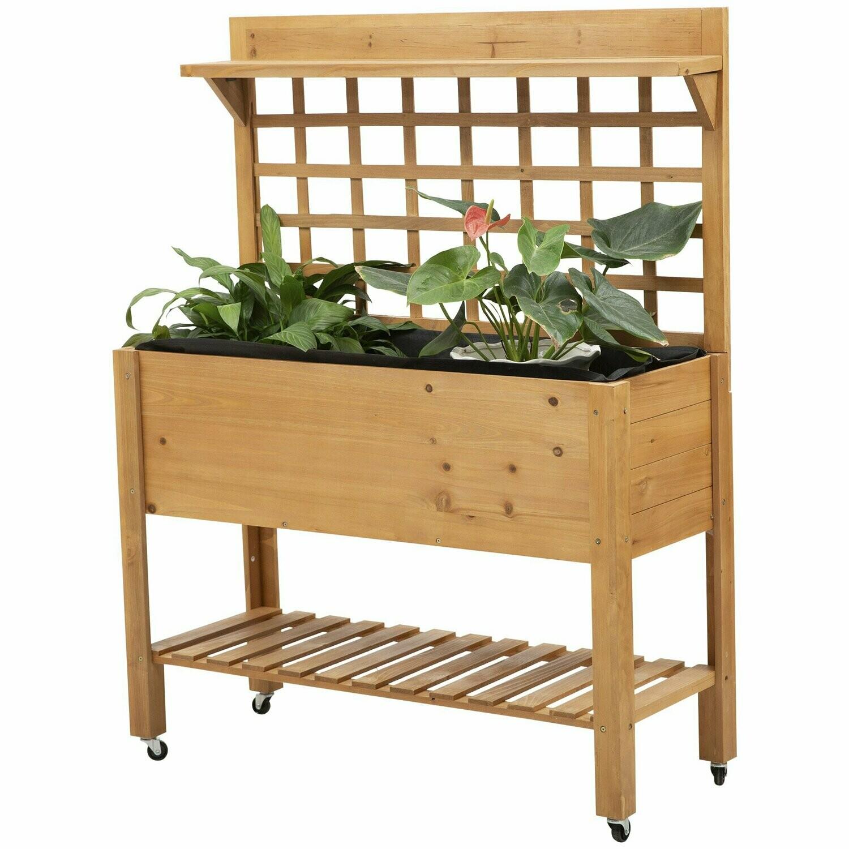 Outsunny® Pflanztisch Blumentisch Arbeitstisch Gärtnertisch Gewächshaus Balkon Garten