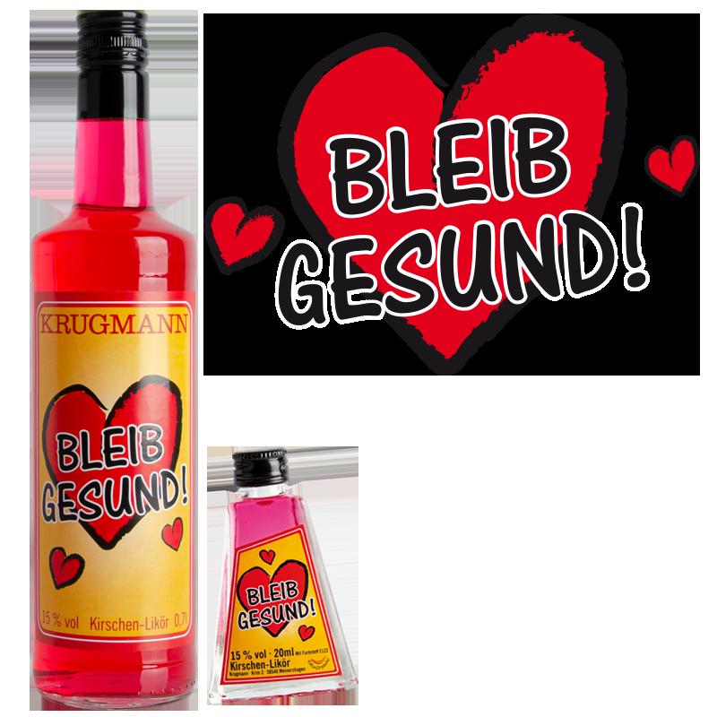 Grosspackung BLEIB GESUND Kirschen-Likör 15 % 20 x 0,02 l = 0,4 Liter