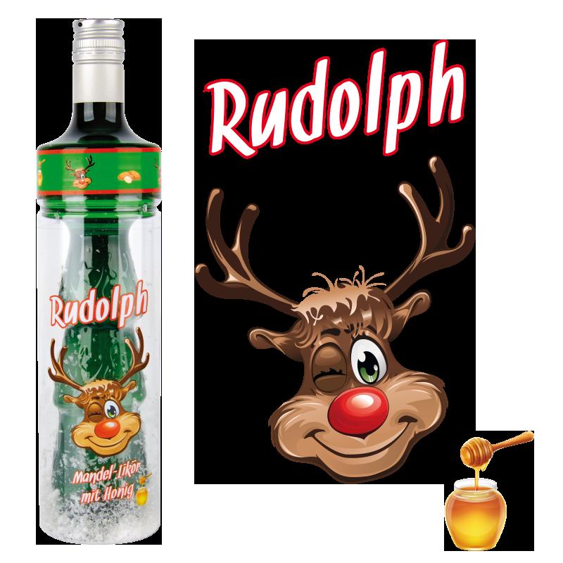Grosspackung  RUDOLPH Mandel-Likör mit Honig 17 % vol 6 x 0,5 l = 3 Liter