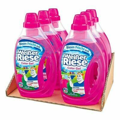 Grosspackung Weisser Riese Colorwaschmittel Gel 20 WL, 6er Pack