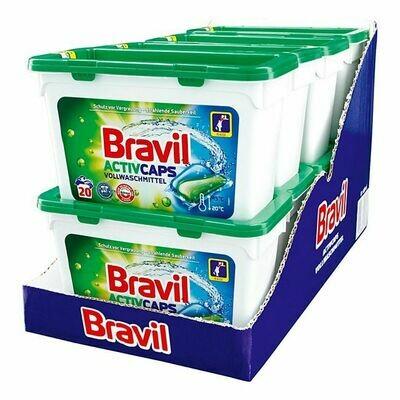 Grosspackung Bravil Caps Vollwaschmittel 20 WL, 8er Pack