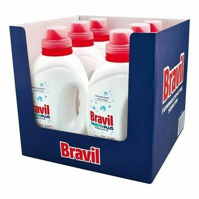 Grosspackung Bravil Feinwaschmittel Sensitiv Plus 1,5 Liter, 6er Pack