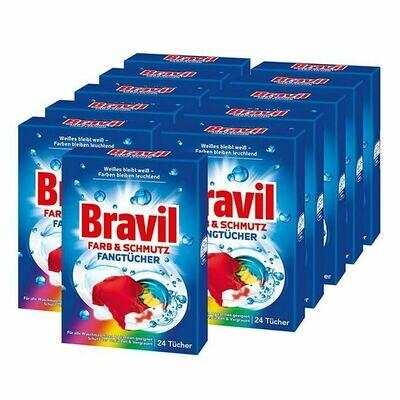 Grosspackung Bravil Farbfangtücher 24 Stück, 11er Pack
