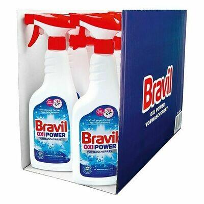 Grosspackung Bravil Vorwaschspray Oxi Power 750 ml, 12er Pack = 9 Liter
