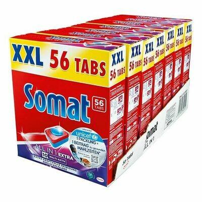 Grosspackung Somat 10 All in 1 Geschirrreinigertabs 56 Stück, 7er Pack