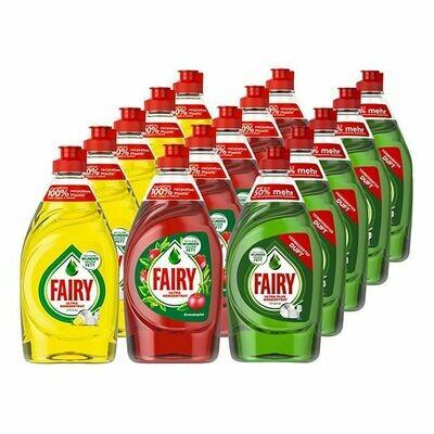 Grosspackung Fairy Handspülmittel 450 ml, verschiedene Sorten, 15er Pack = 6,75 Liter