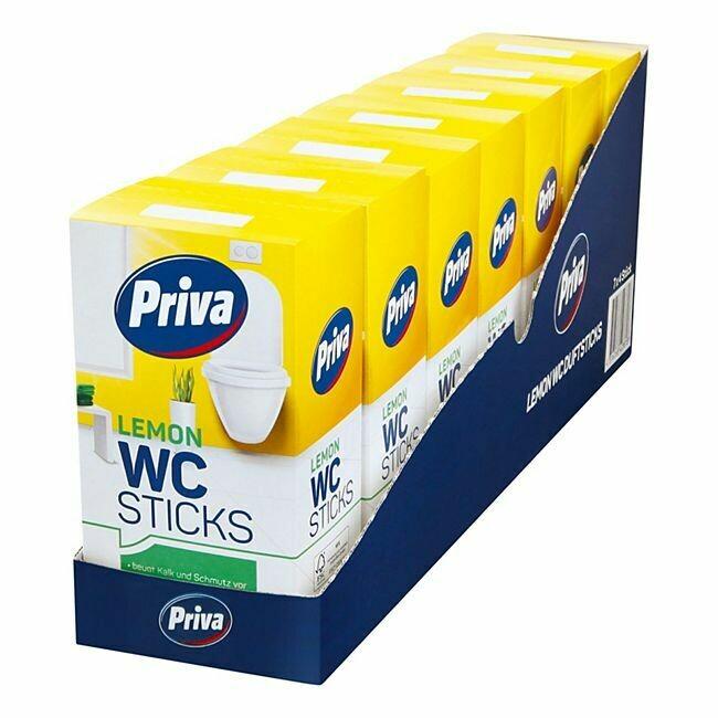 Grosspackung Priva WC- Stick Lemon 4 x 40 g, 7er Pack